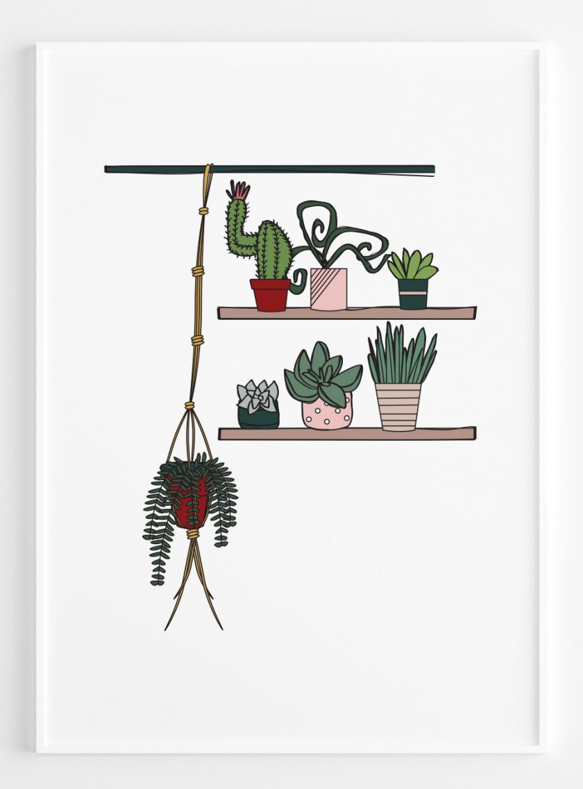 Chill Plants II A2 Framed Poster