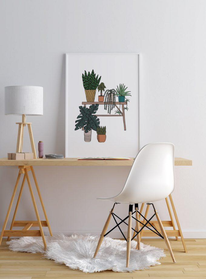 Garden Plants A2 Framed Poster